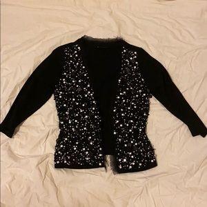 White house Black market Sparkle sweater